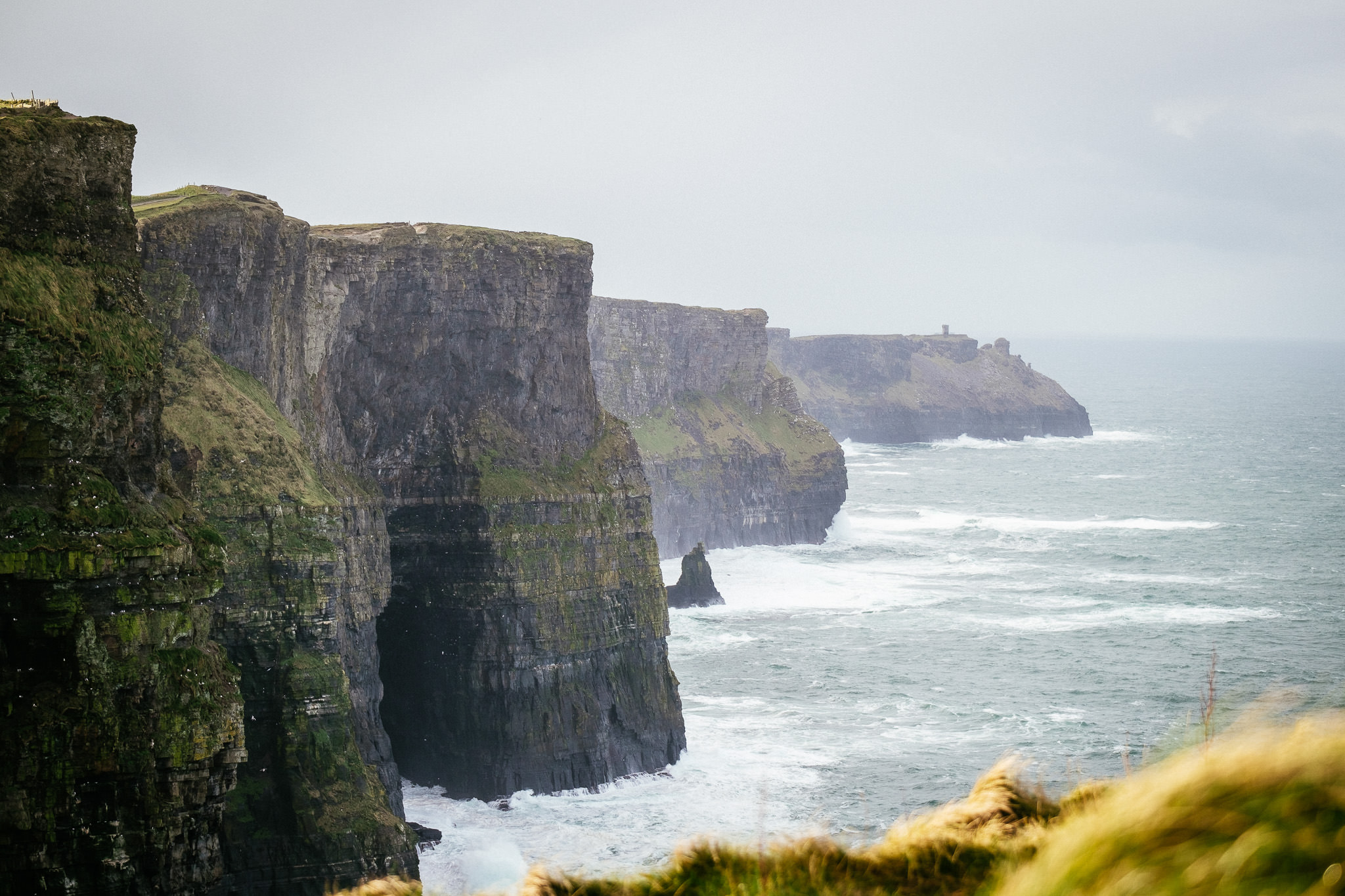 waves at the Cliffs of Moher Ireland