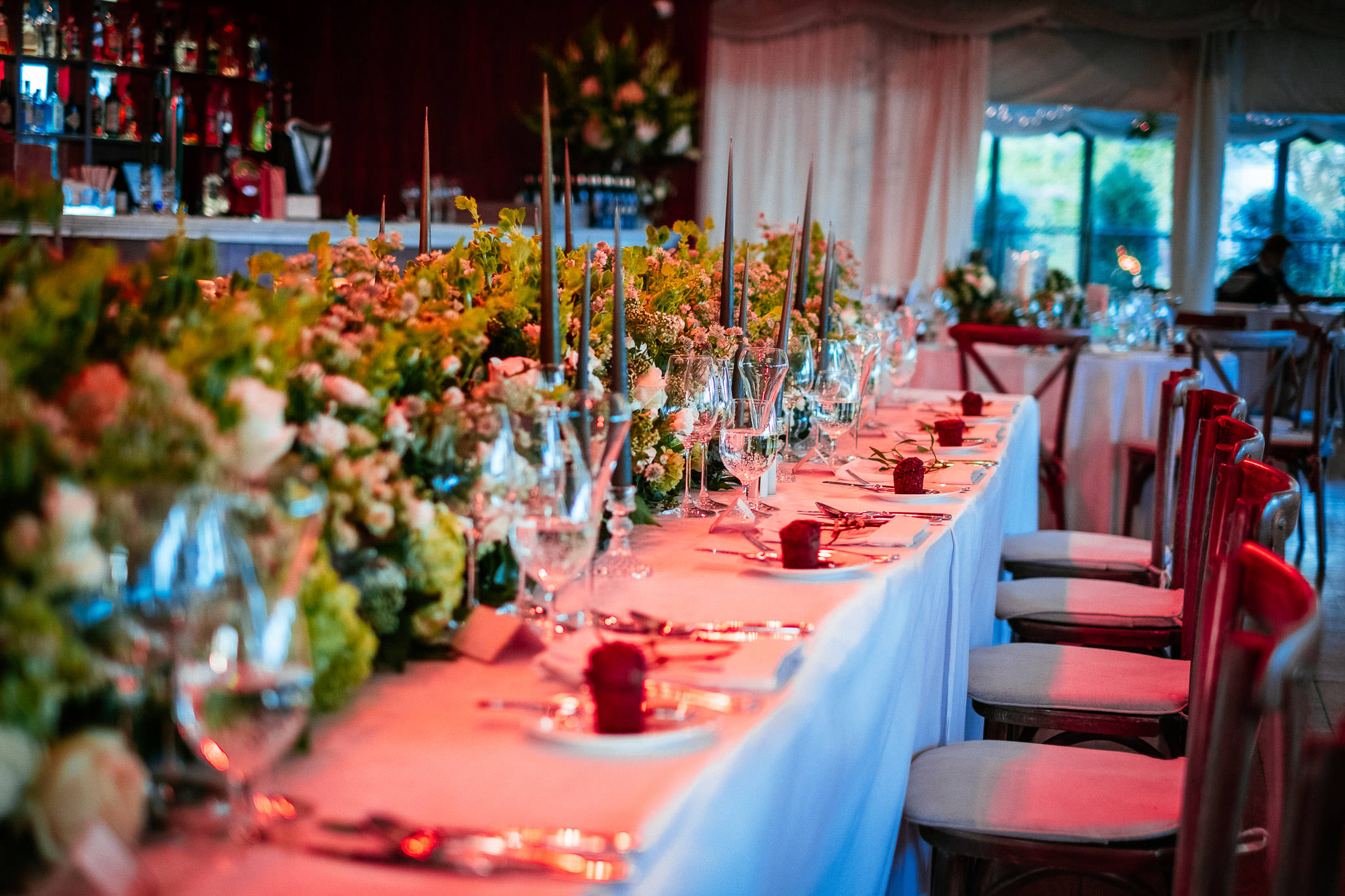 head table at Virginia Park Lodge wedding