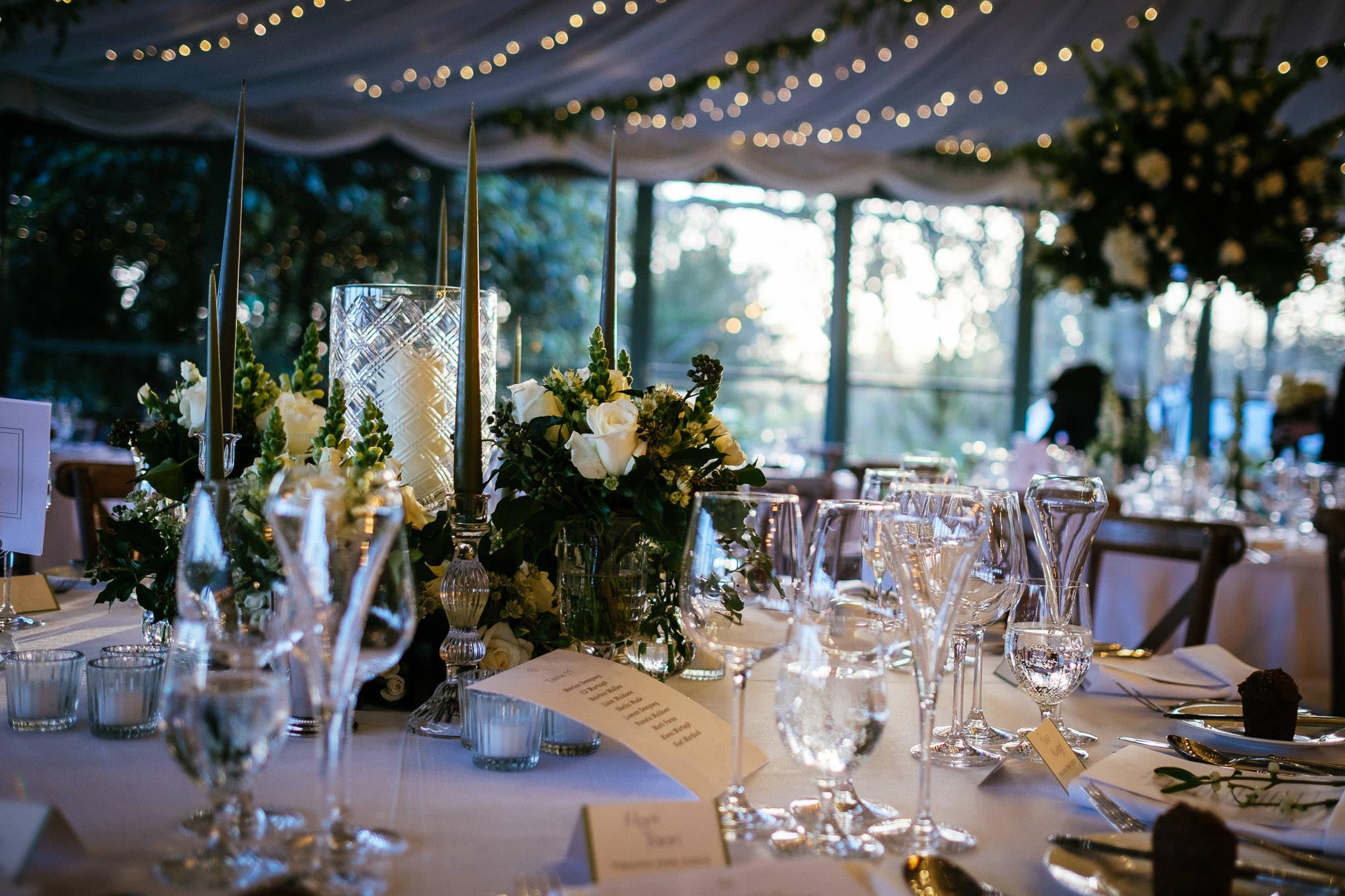 table setup at Virginia Park Lodge wedding