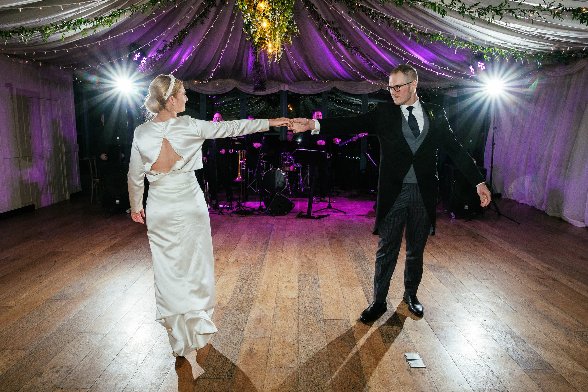 first dance for a bride and groom at their wedding at Virginia Park Lodge