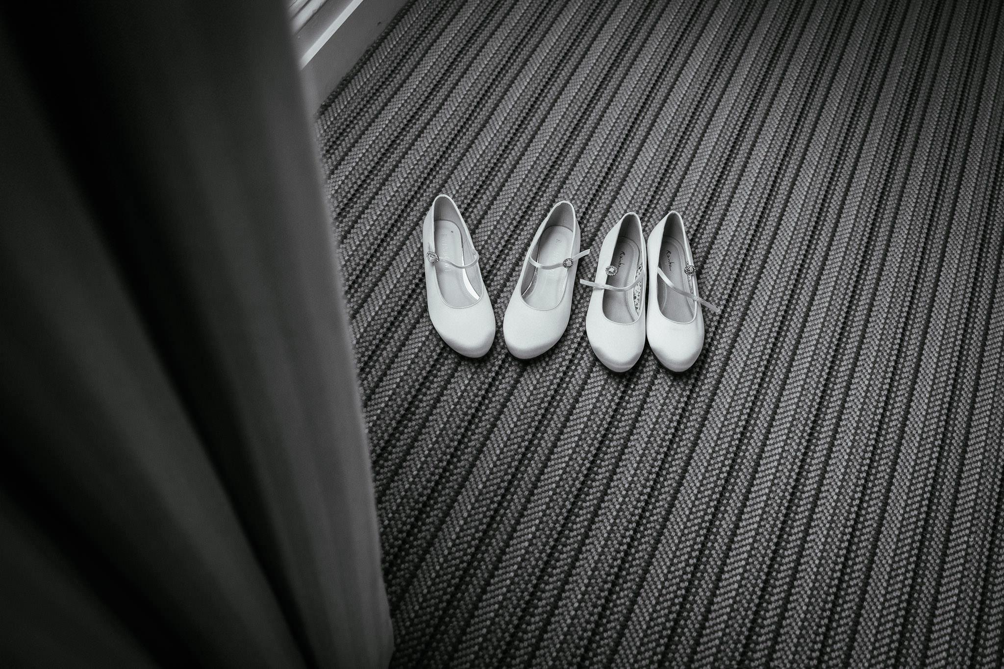 flowergirls shoes at virginia park lodge wedding