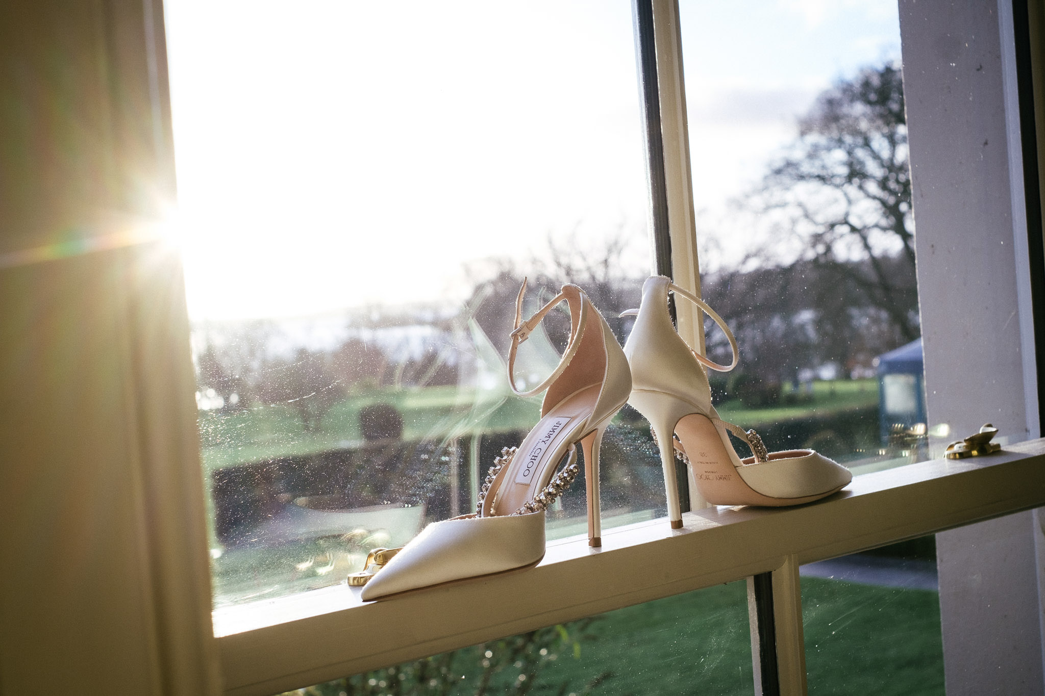 jimmy choo shoes at virginia park lodge wedding