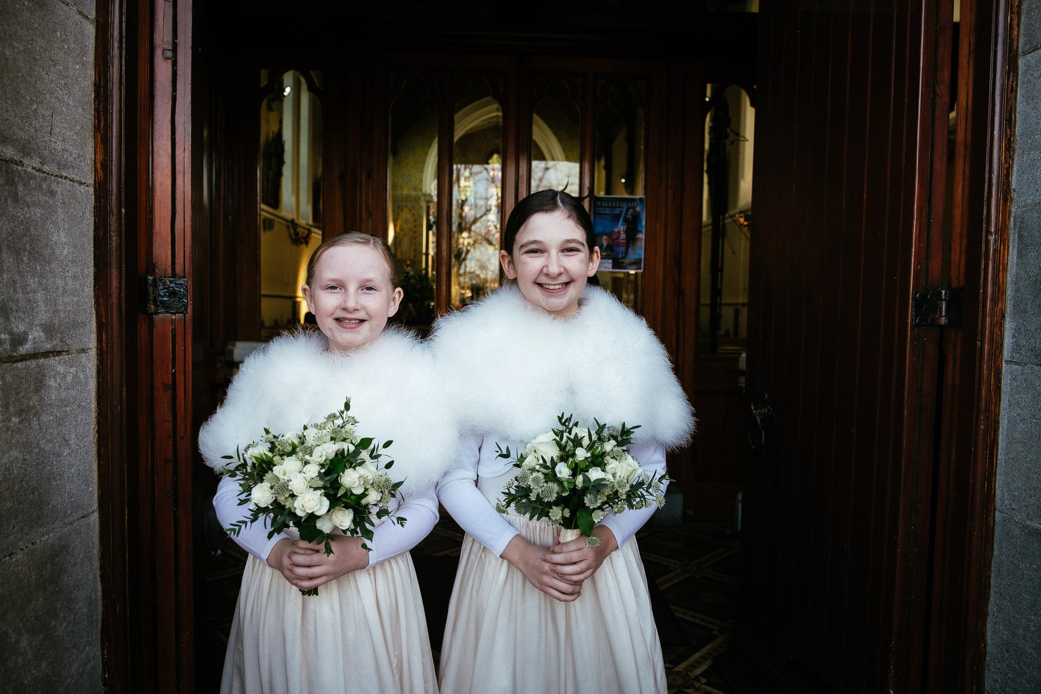 flowergirls at virginia park lodge wedding