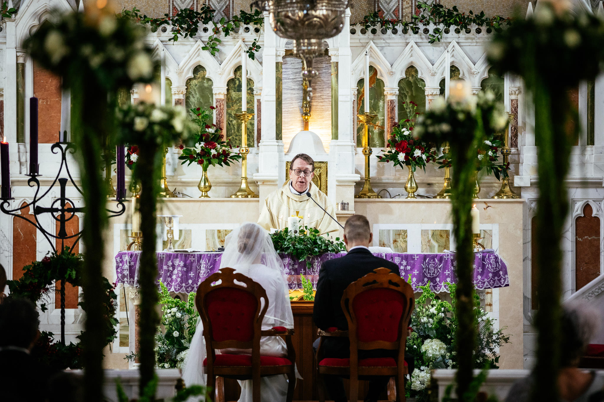 Fr Raya Kelly during wedding ceremony at St Brigid's Church Oldcastle