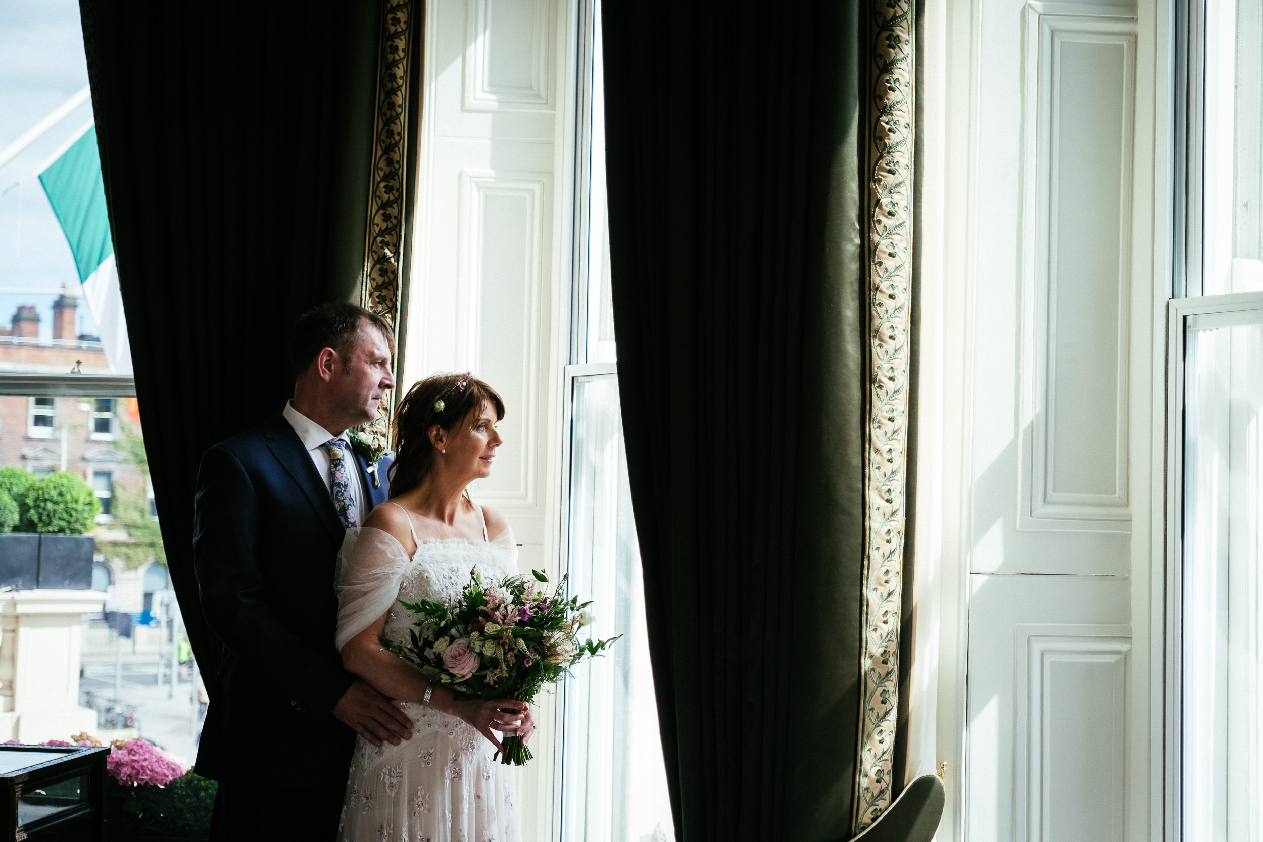 Dublin Unitarian Church Shelbourne Hotel Wedding Photographer 58