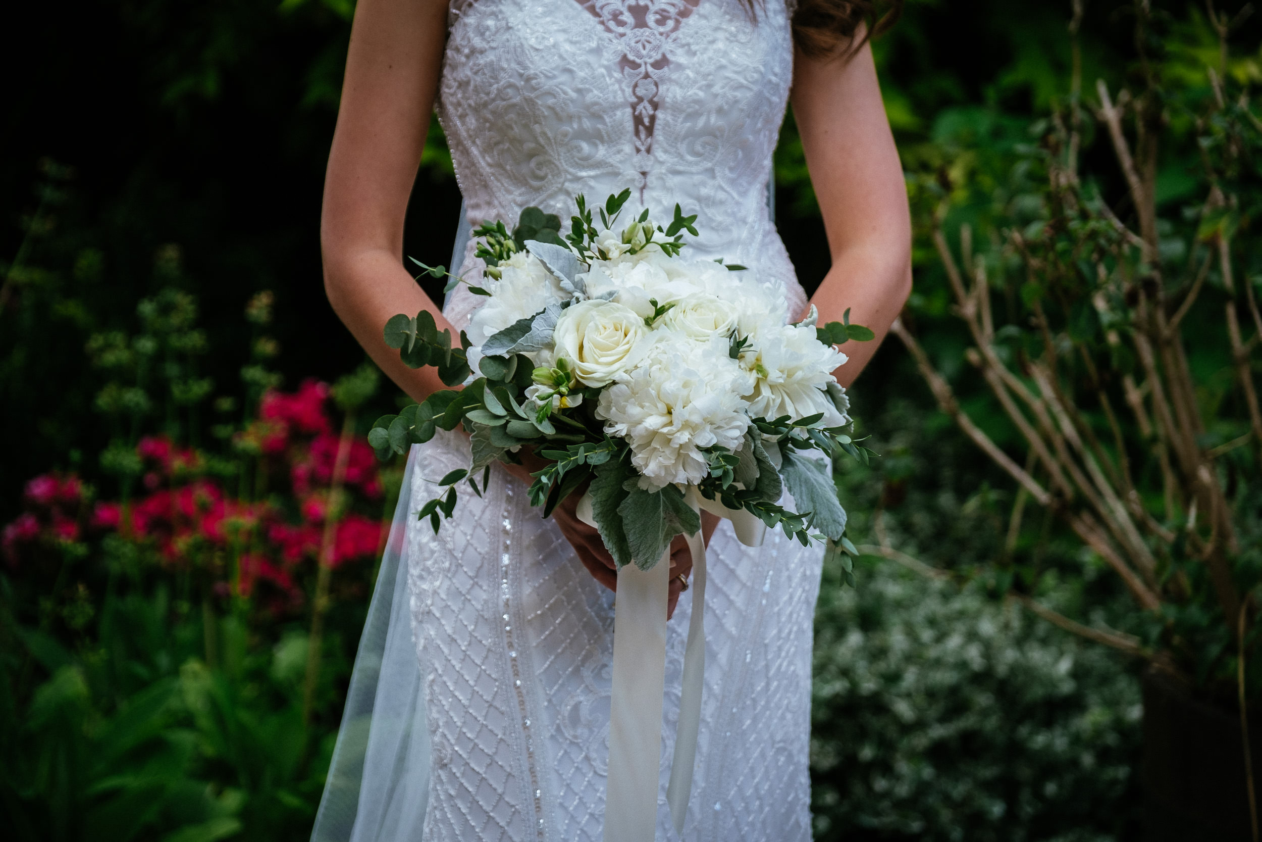 bride holding bouquet at her killashee house hotel wedding