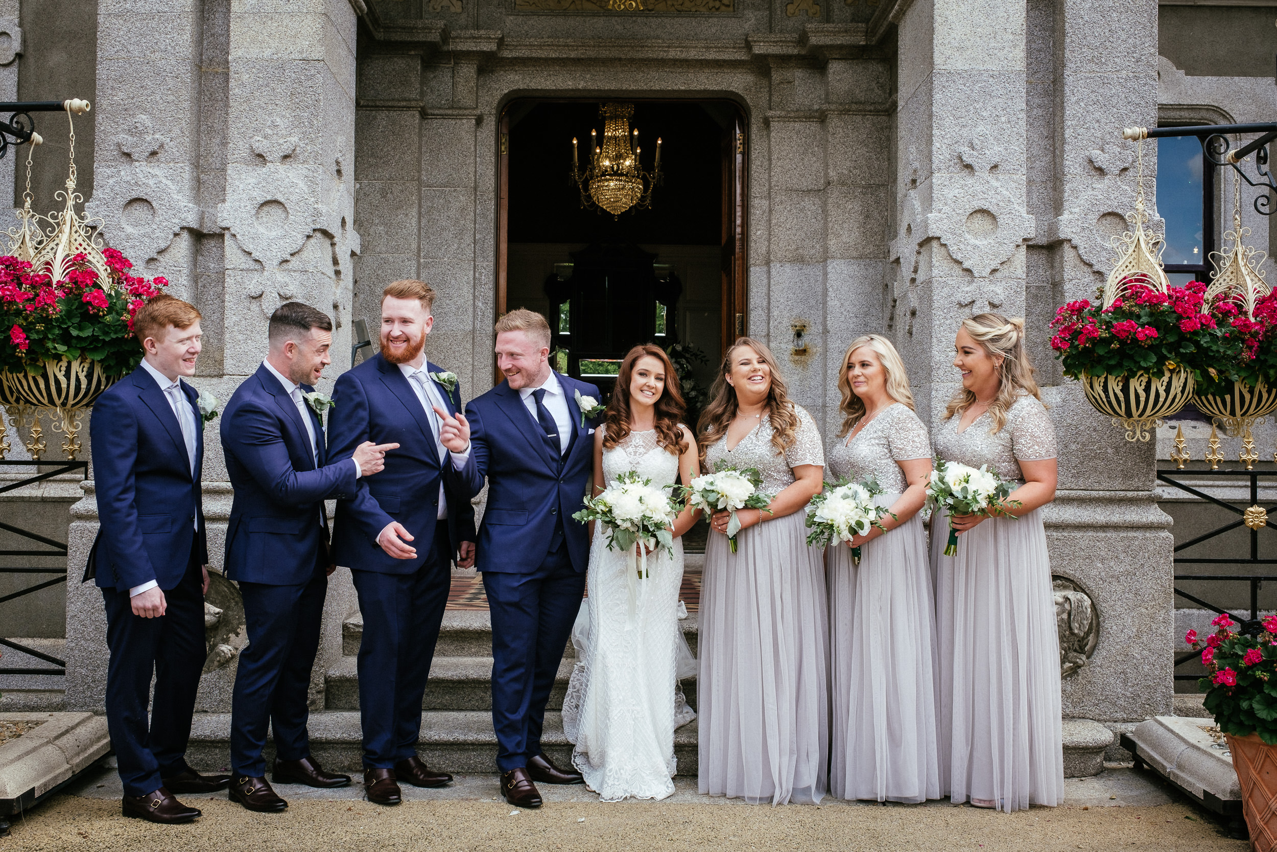 bridal party at killashee house hotel wedding