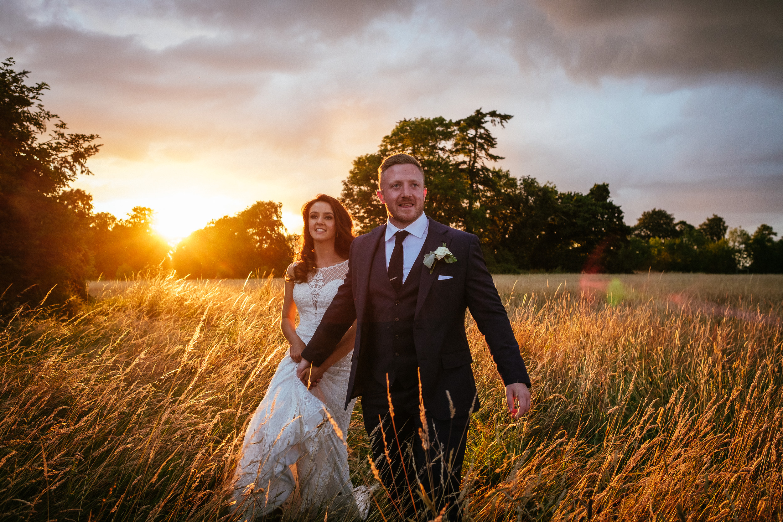 amazing sunset at killashee house hotel wedding
