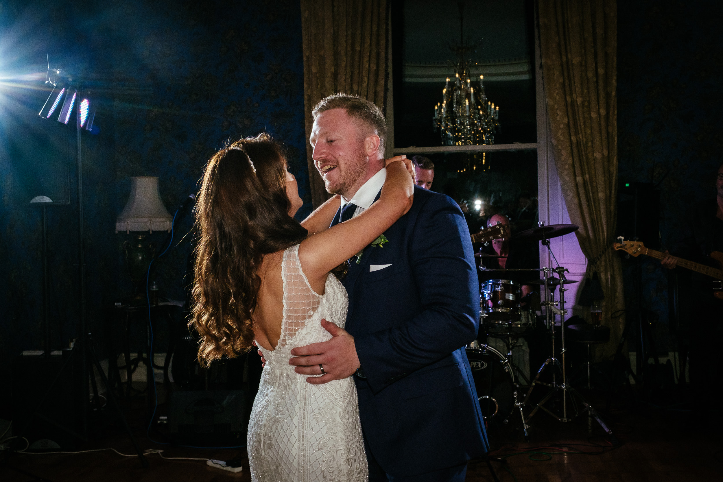 bride and groom first dance at killashee house hotel wedding