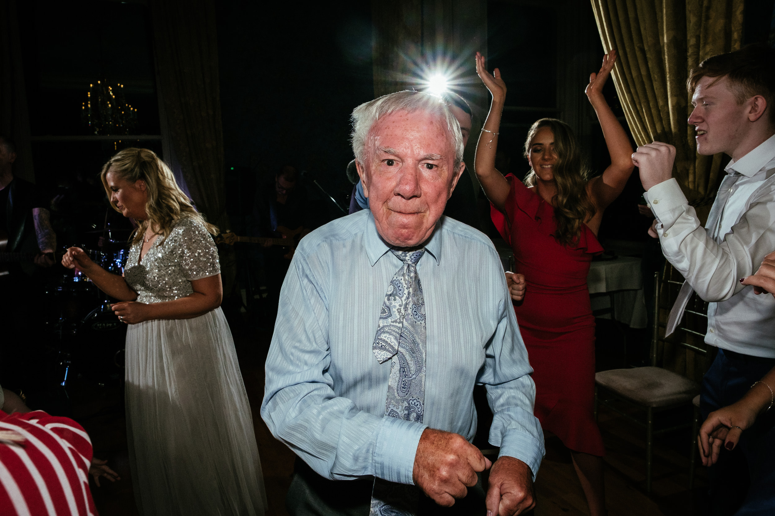 elderly guest dancing at a killashee house hotel wedding