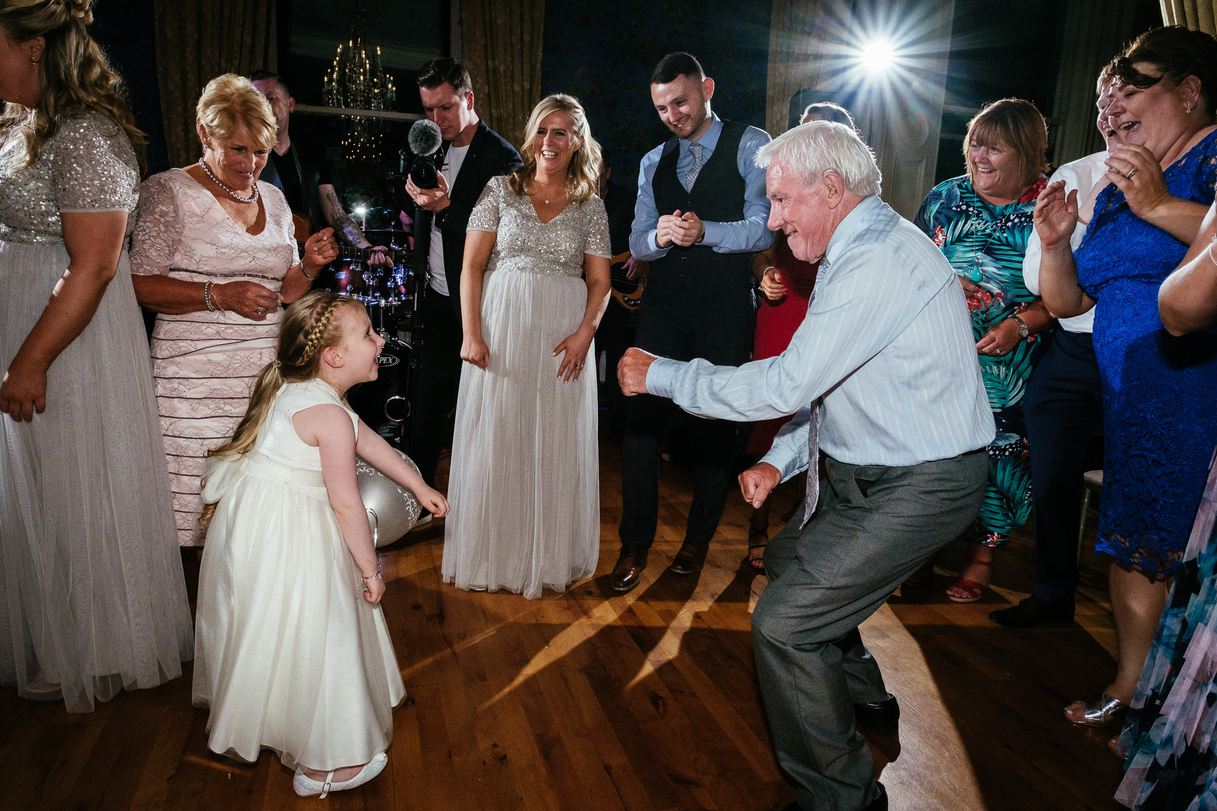 flower girl dancing at a killashee house hotel wedding