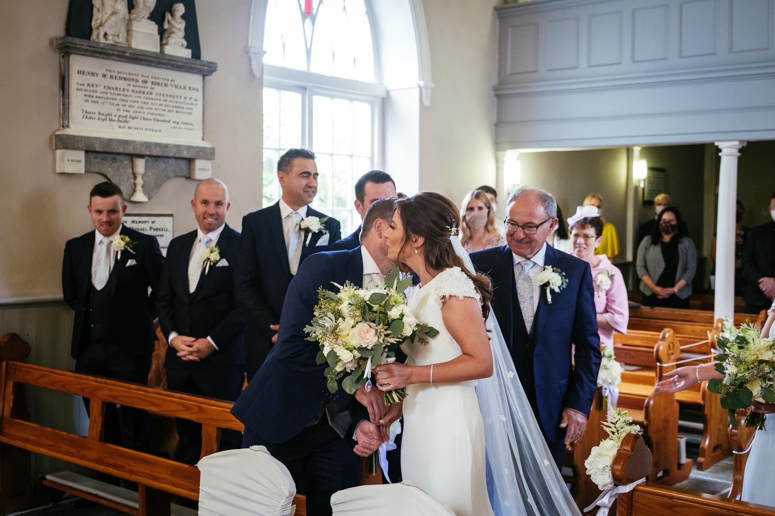 wedding ceremony at St. Patrick's Church, Kilquade