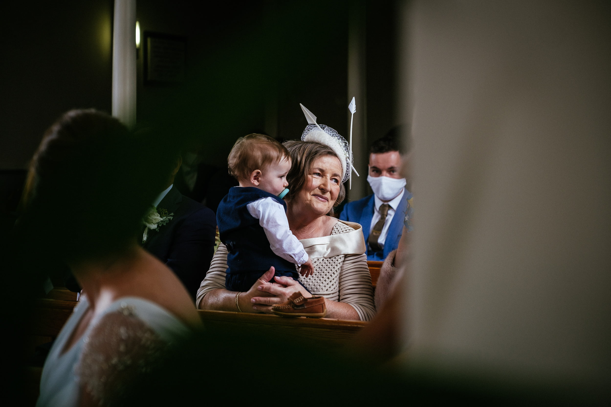 brides mother at St. Patrick's Church, Kilquade