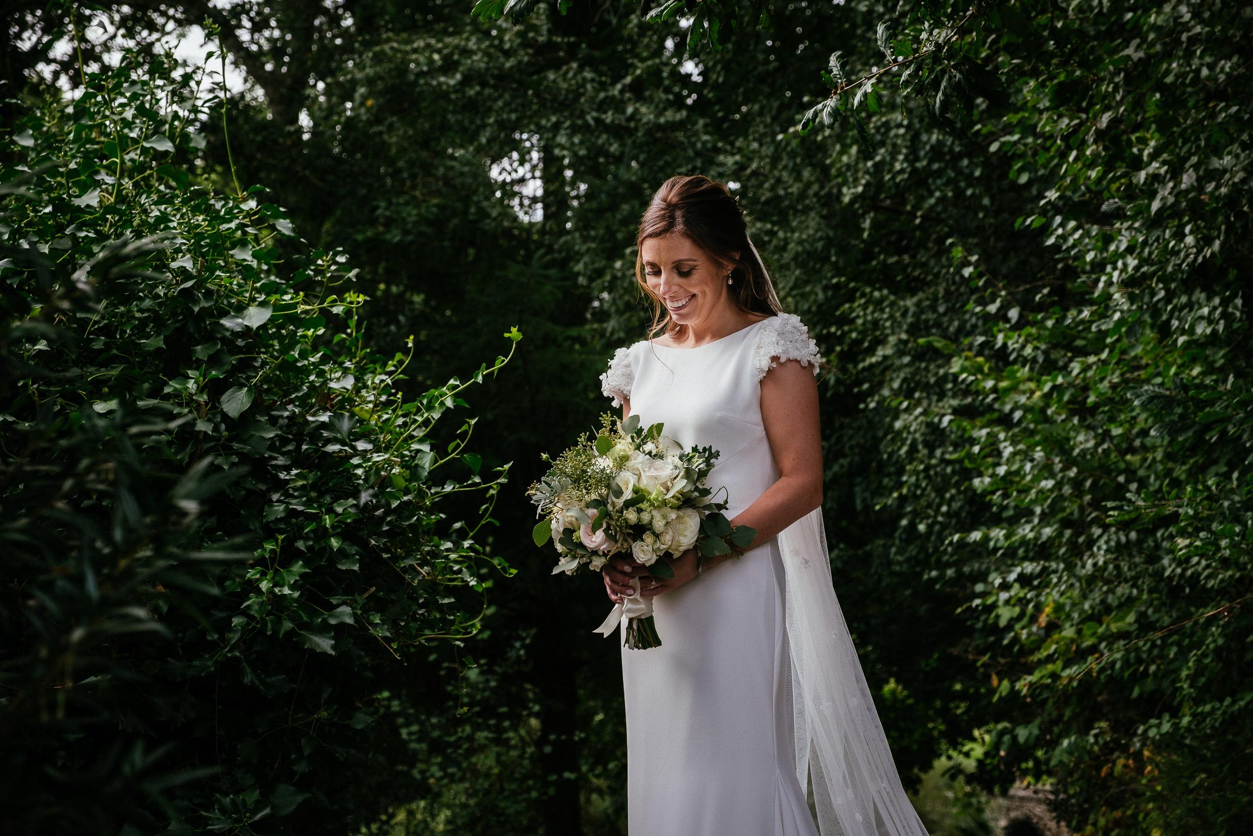bride at her wedding in Druid's Glen Hotel Wicklow