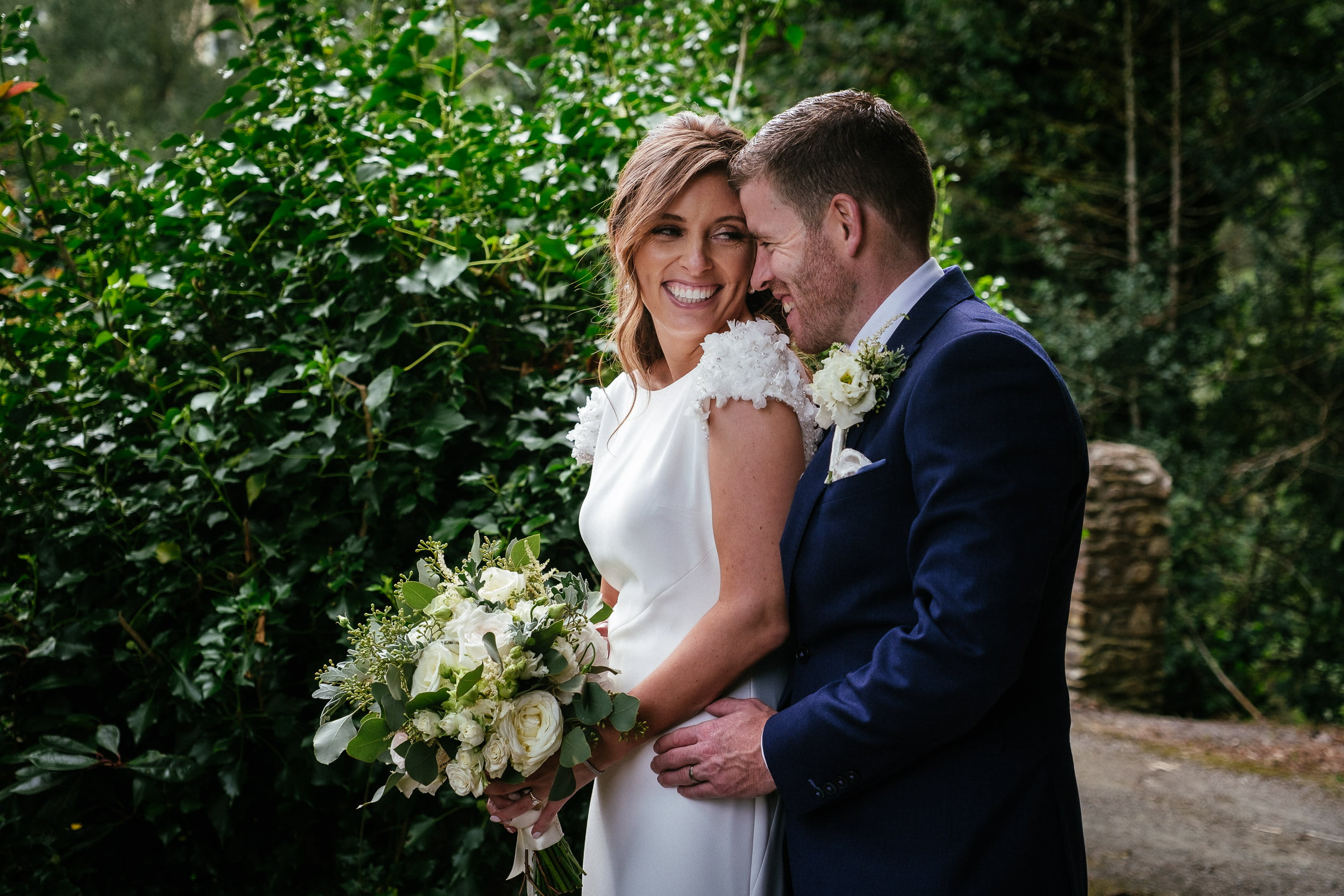 bride and groom at their wedding in Druid's Glen Hotel Wicklow