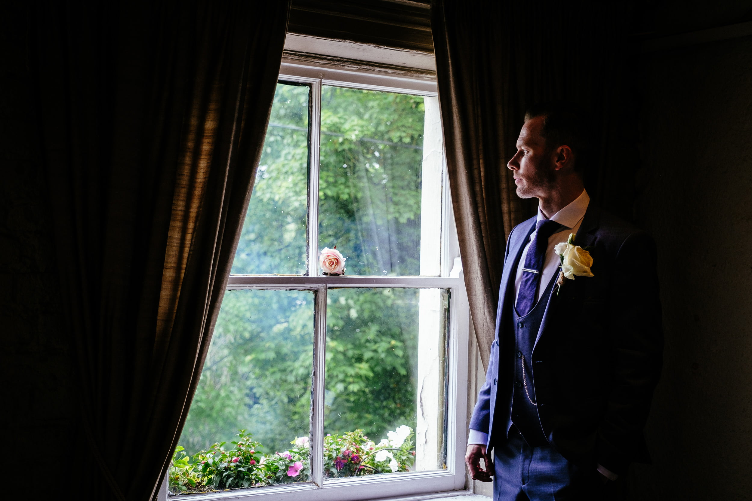 groom before his wedding at the anglers rest dublin